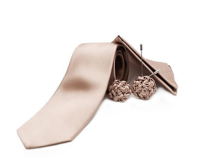 Dusky Pink Silk Rose Lapel Pin - Mr. Jenks