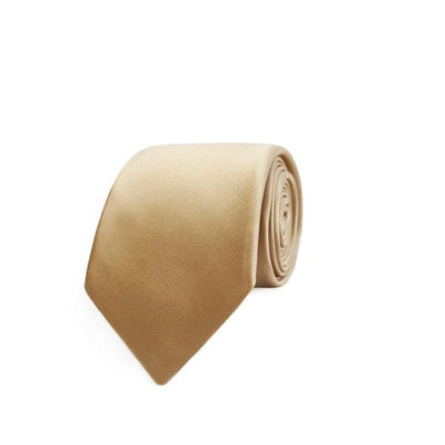 Champagne Gold Silk Satin Tie - Mr. Jenks