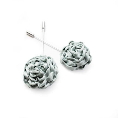 Duck Egg Silk Rose Lapel Pin - Mr. Jenks
