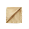Champagne Gold Silk Pocket Square - Mr. Jenks