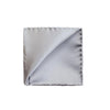 Dove Grey Silk Pocket Square - Mr. Jenks