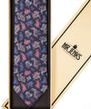 Classic Navy and Pink Paisley Silk Tie - Mr. Jenks