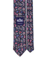 Classic Navy and Pink Paisley Silk Tie