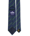 Royal Irish Poplin Navy and Green Striped Tie