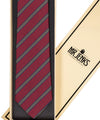 Royal Irish Poplin Red, Navy and Yellow Striped Tie - Mr. Jenks