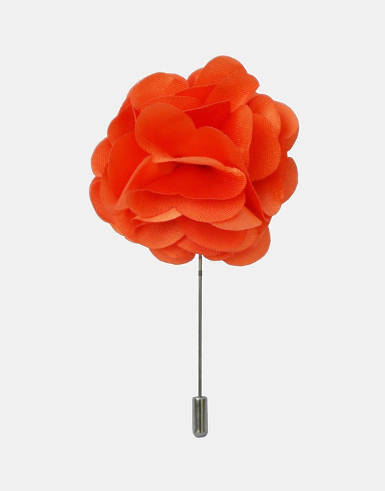 Orange Petaled Flower Lapel Pin - Mr. Jenks