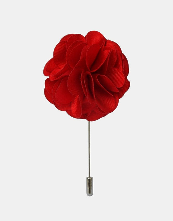 Red Petaled Flower Lapel Pin - Mr. Jenks