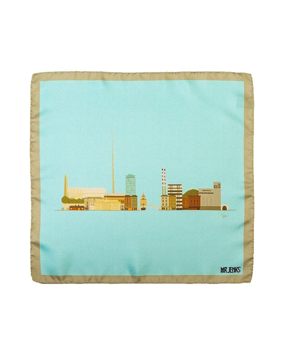 Pocket Squares - Dublin Skyline Silk Pocket Square