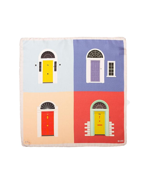 Georgian Door Silk Pocket Square