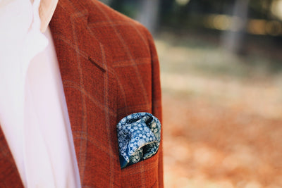 Ireland in Bloom Silk Pocket Square - Mr. Jenks - 3