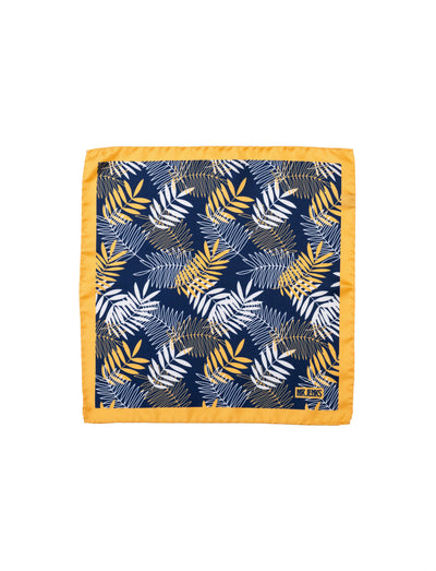 Yellow and Navy Tropical Pocket Square - Mr. Jenks