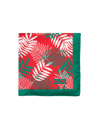 Red and Green Tropical Pocket Square - Mr. Jenks