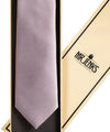 Lilac Grey Silk Satin Tie - Mr. Jenks