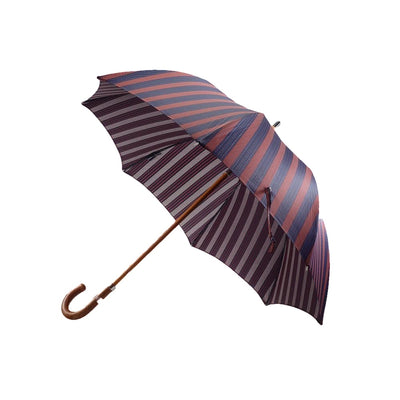 Navy and Burgundy Stripe & Polka Dot Umbrella - Mr. Jenks