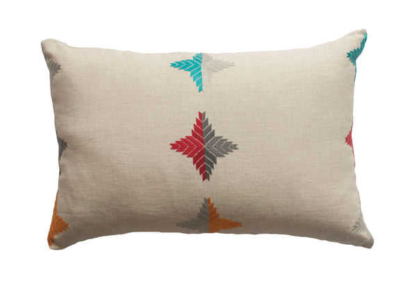 Hand Embroidered Geometric Throw Pillows