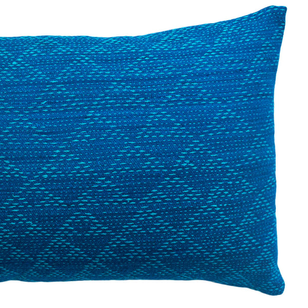 EVA INDIGO/AQUA PILLOW 12x20