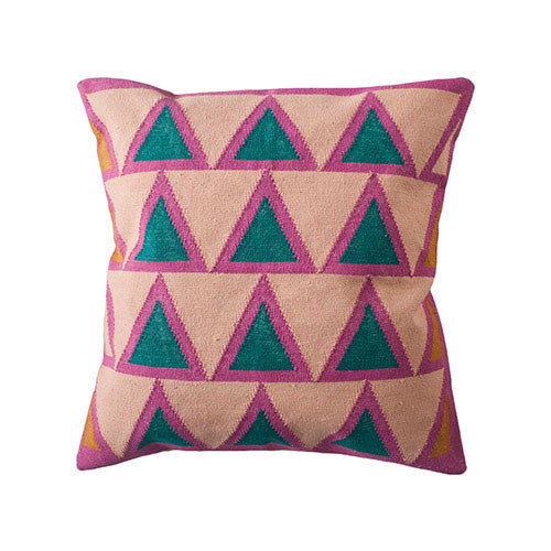 Pink Geometric Pillow