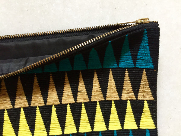 Black Clutch Purse Close Up