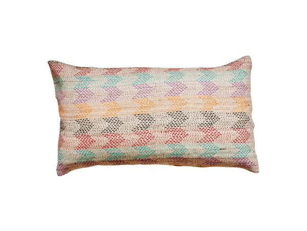 Hand Embroidered Throw Pillow