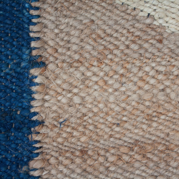 MARGEAUX MOON JUTE RUG  - BLUE