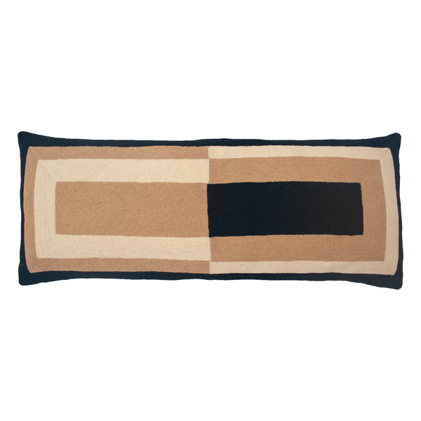 MARIANNE RECTANGLE PILLOW - BLACK