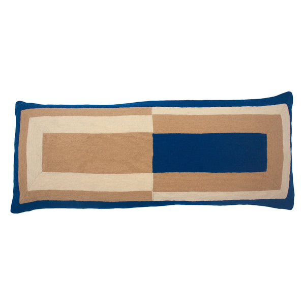 MARIANNE RECTANGLE PILLOW - BLUE