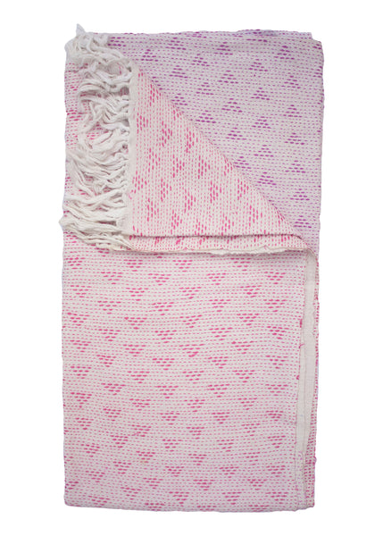 OMBRE EMBROIDERED THROW - PINK - 1/1