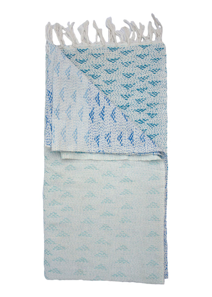 OMBRE EMBROIDERED THROW - BLUE - 1/1