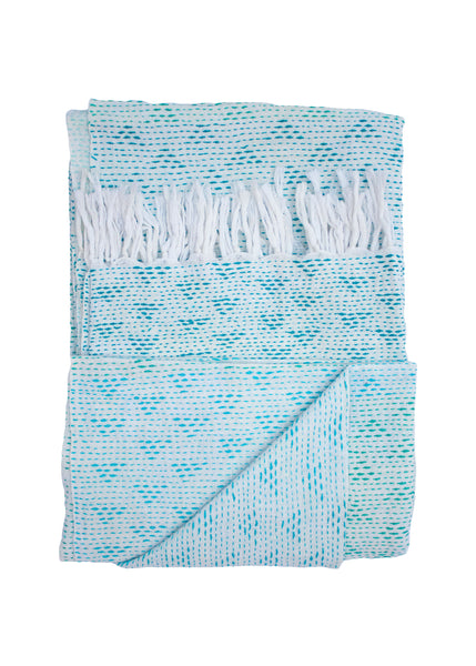 OMBRE EMBROIDERED THROW - GREEN - 1/1