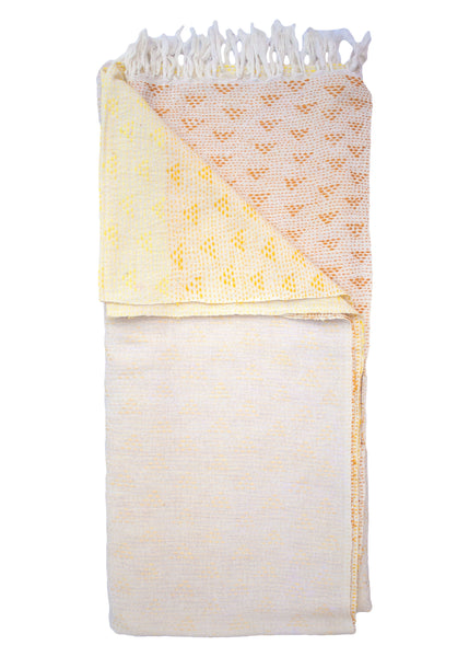 OMBRE EMBROIDERED THROW - YELLOW - 1/1