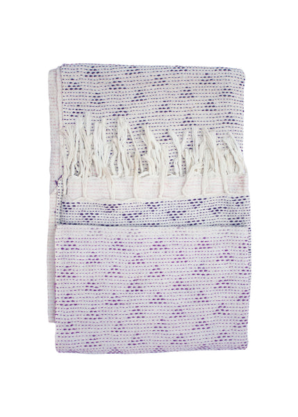 OMBRE EMBROIDERED THROW - PURPLE - 1/1