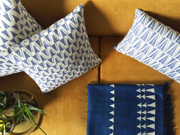 INDIGO SHADOW PILLOW