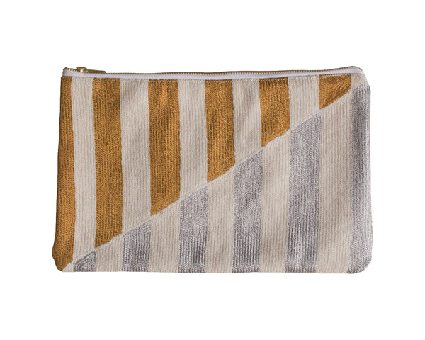 Striped Clutch