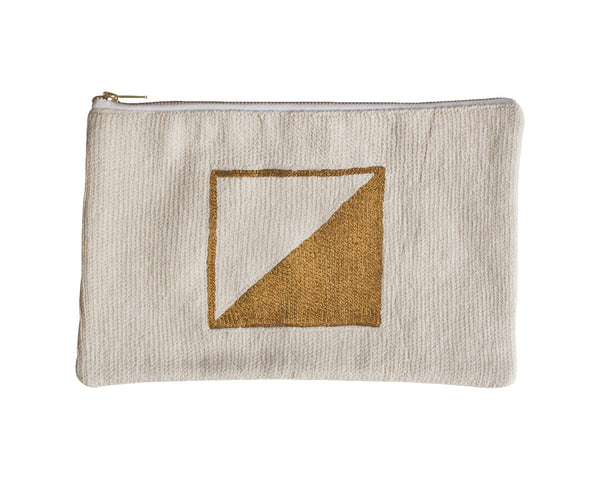 Metallic Geometric Clutch