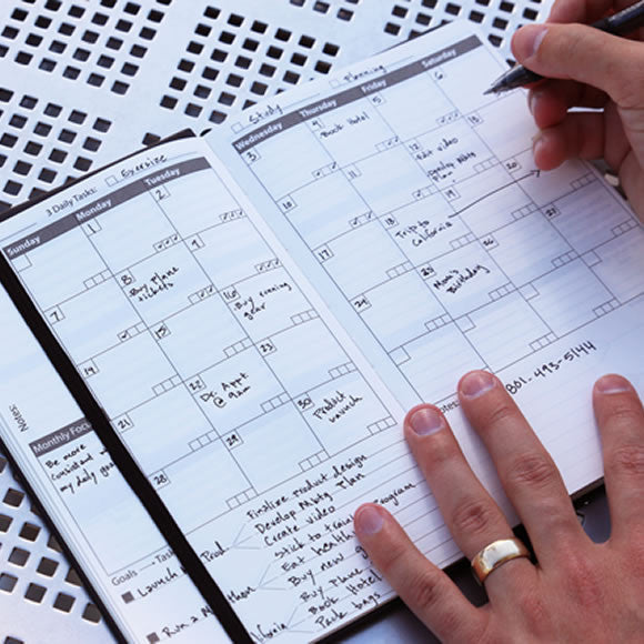 The Kickstarter Mint Green & Black Notebook Planner | NOMATIC