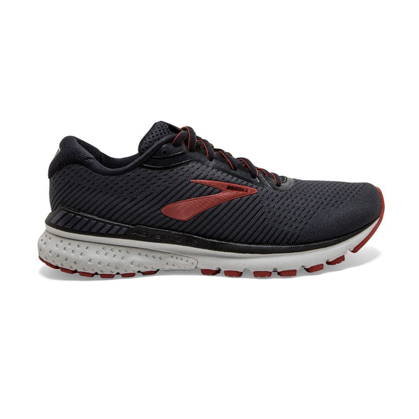 """BROOKS"" Men's Adrenaline GTS 20 Black/Ebony/Ketchup"