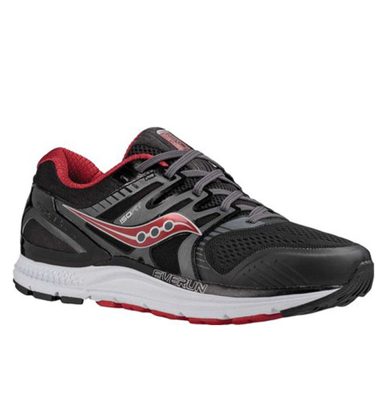 """SAUCONY"" Men's Redeemer ISO 2 - Grey/Black/Red (4665455280218)"