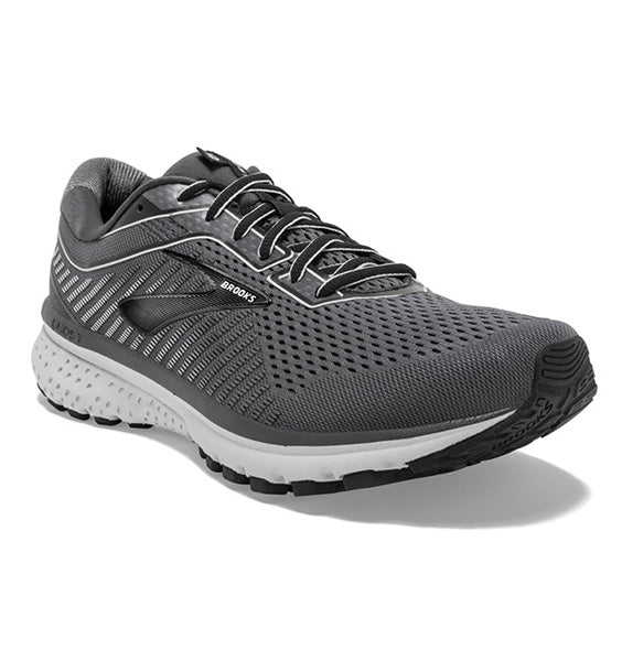 """BROOKS"" Men's Ghost 12 (Black/Pearl/Oyster) (4164756766810)"