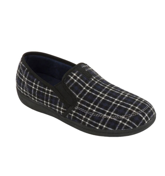 """BIOTIME"" Men's Myles Slipper (Blue Plaid) (5896868298909)"