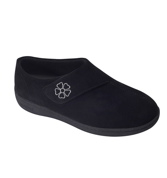 """BIOTIME"" Women's Mia Slipper (Black Suede) (5897246769309)"