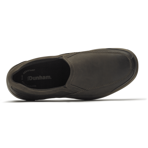 """DUNHAM"" Men's Batter Park Slip On (Brown Nbk)"