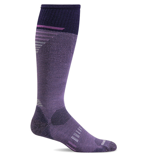 (SOCKWELL) Women's Graduated Compression, Ascend II Knee High 15-20 MMHG (Plum)