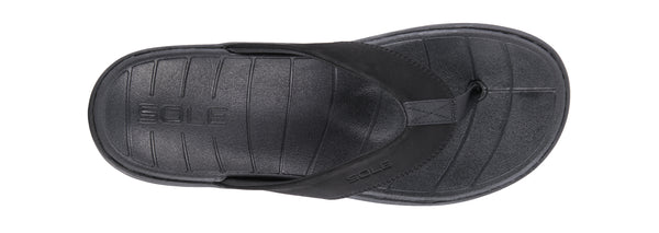 """SOLE"" Men's Catalina Flip (Black) (1774793457754)"