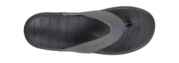 """SOLE"" Men's Catalina Flip (Grey) (1774814462042)"