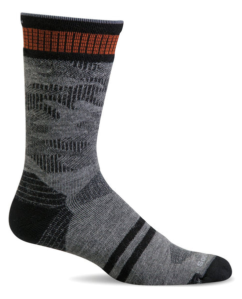 (SOCKWELL) Men's Moderate Compression, Camo Crew 15-20 MMHG (Grey)