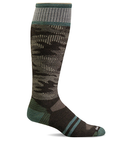 (SOCKWELL) Men's Moderate Compression, Camo OTC 15-20 MMHG (Espresso)