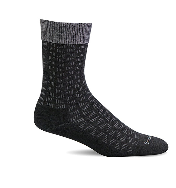 (SOCKWELL) Men's Moderate Compression, Easy Street (Black)