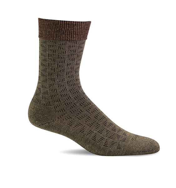 (SOCKWELL) Men's Moderate Compression, Easy Street (Khakhi)