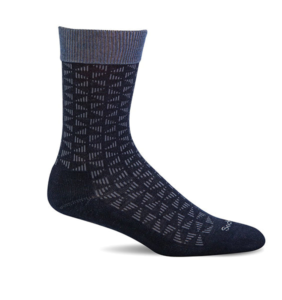 (SOCKWELL) Men's Moderate Compression, Easy Street (Navy)