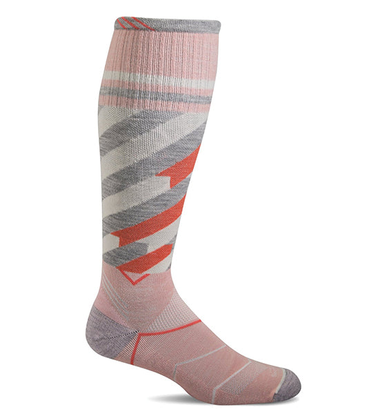(SOCKWELL) Women's Graduated Compression, Cyclone 15-20 MMHG (Rose)